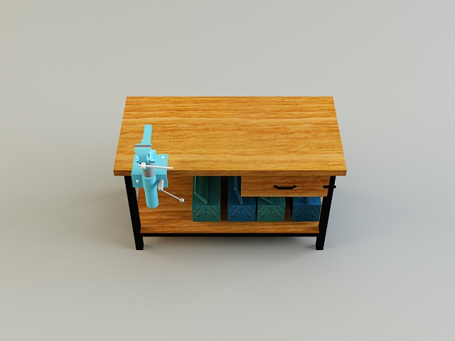 work bench 3d model 3ds max obj 139180