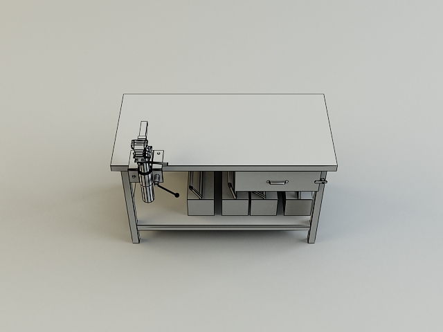 work bench 3d model 3ds max obj 139181