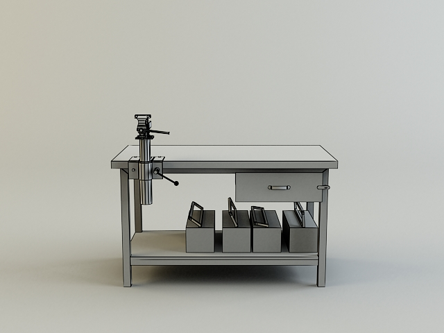 work bench 3d model 3ds max obj 139182