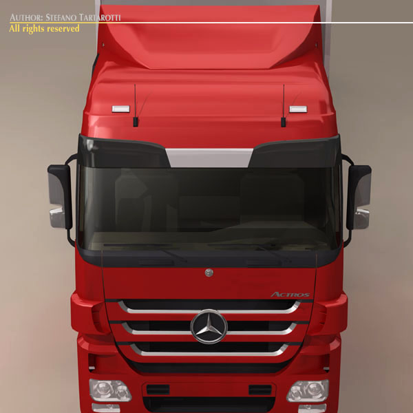 mercedes actros megaspace 3d model 3ds dxf c4d obj 116392