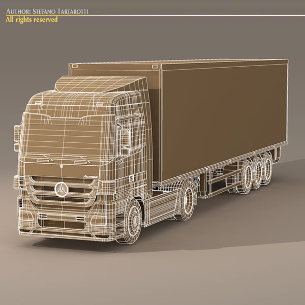 mercedes actros megaspace 3d model 3ds dxf c4d obj 116400