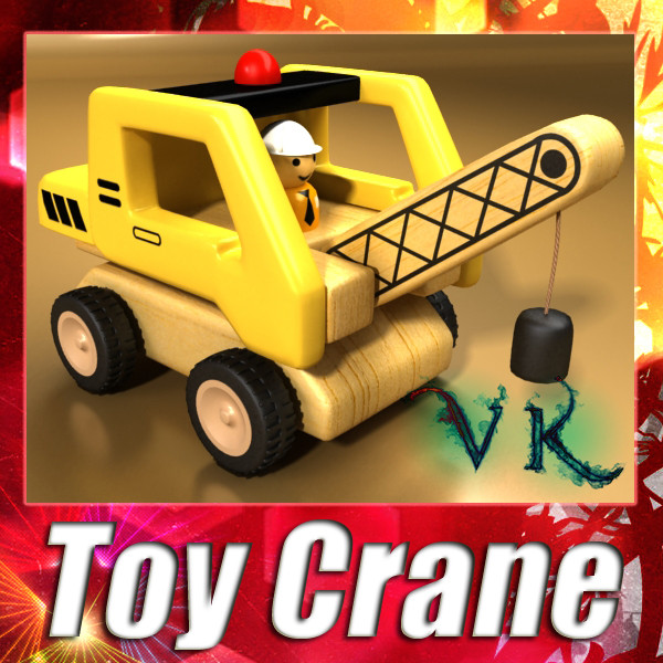 wooden toy crane 3d model 3ds max fbx obj 129510