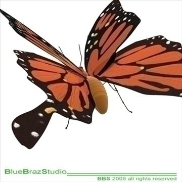 butterfly cartoon 3d model 3ds dxf c4d obj 93303