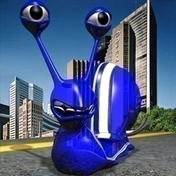 gordini snail toon mollusk 3d model 3ds max dxf obj 111787