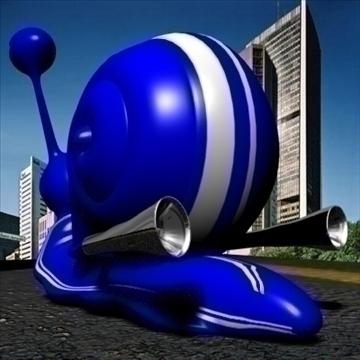 gordini snail toon mollusk 3d model 3ds max dxf obj 111790