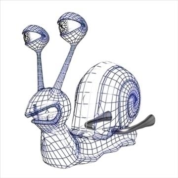 gordini snail toon mollusk 3d model 3ds max dxf obj 111792