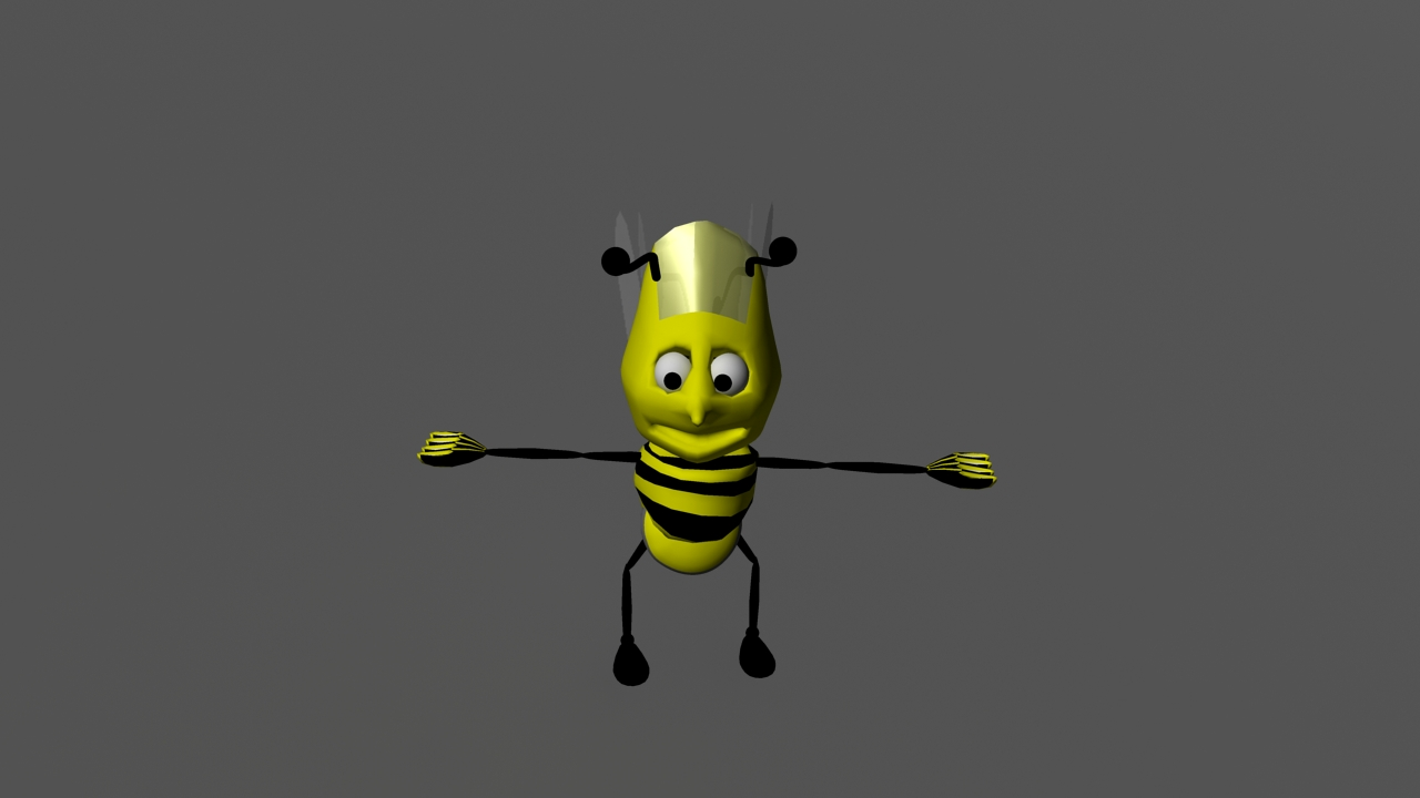 honey bee 3d model ma mb 116130
