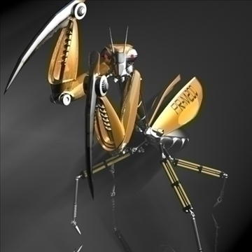 praying mantis robot rigged 3d model 3ds max fbx obj 107751