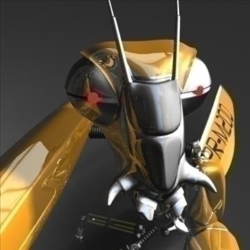 praying mantis robot rigged 3d model 3ds max fbx obj 107752