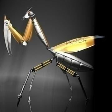 praying mantis robot rigged 3d model 3ds max fbx obj 107754