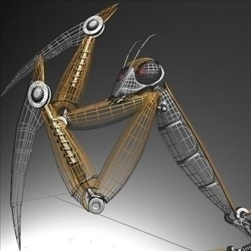 praying mantis robot rigged 3d model 3ds max fbx obj 107757