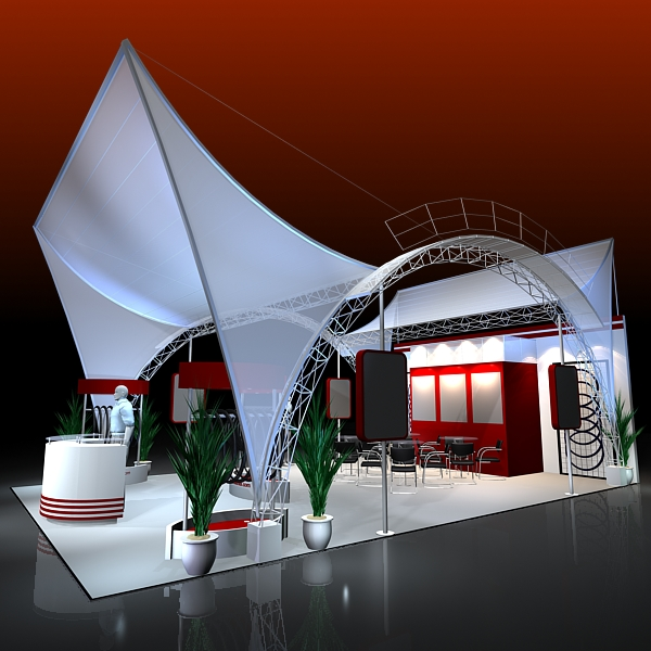 4 exhibit booth design for trade show 3d model 3ds max dxf dwg fbx c4d ma mb hrc xsi texture obj 150955