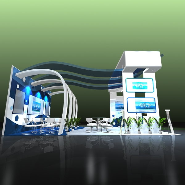 4 exhibit booth design for trade show 3d model 3ds max dxf dwg fbx c4d ma mb hrc xsi texture obj 150971