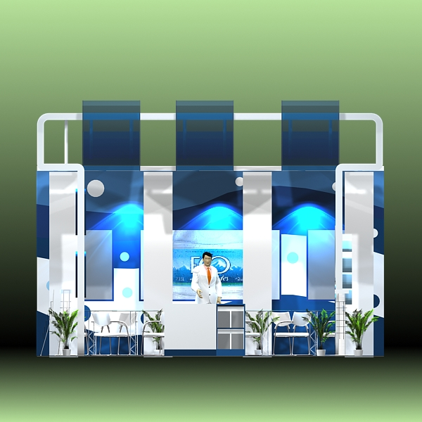 4 exhibit booth design for trade show 3d model 3ds max dxf dwg fbx c4d ma mb hrc xsi texture obj 150974