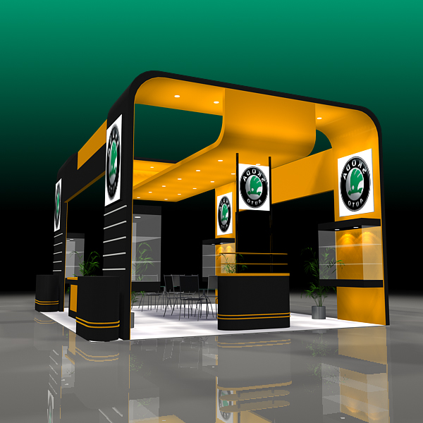 4 exhibit booth design for trade show 3d model 3ds max dxf dwg fbx c4d ma mb hrc xsi texture obj 150976