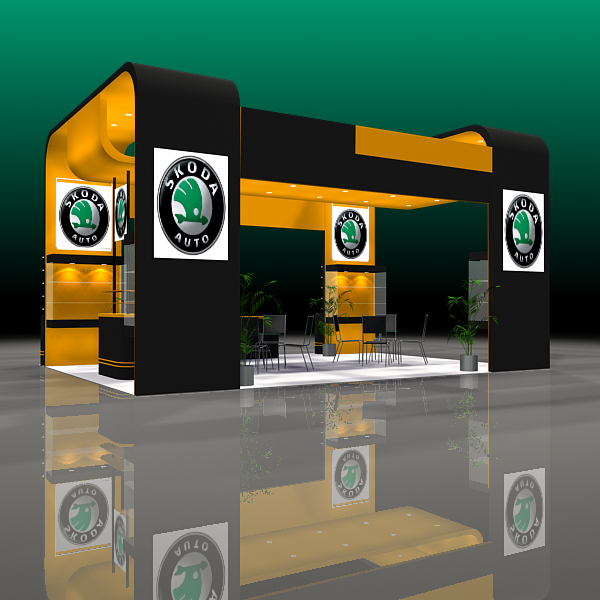 4 exhibit booth design for trade show 3d model 3ds max dxf dwg fbx c4d ma mb hrc xsi texture obj 150977