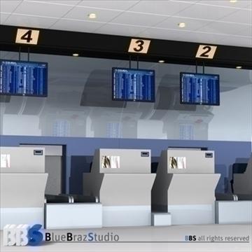 lidostas pārbaude 3d modelī 3ds dxf c4d obj 105570