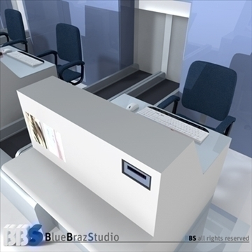 airport check in 3d model 3ds dxf c4d obj 105572