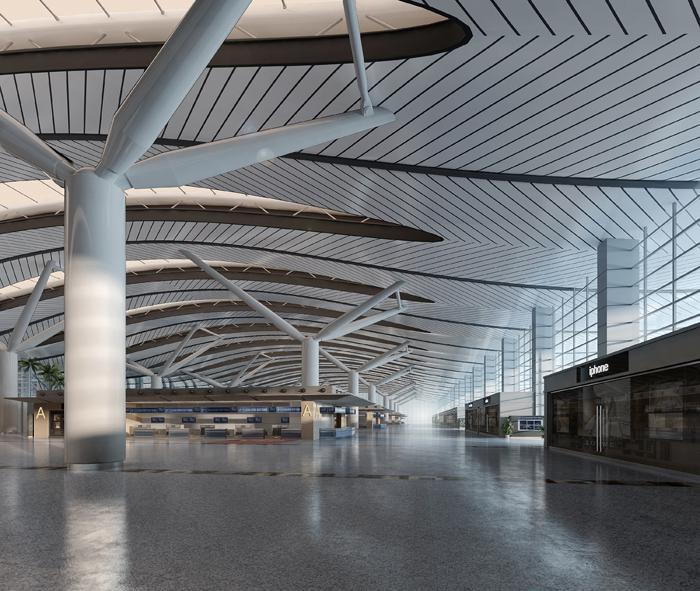 repülőtéri terminál lobby 002 3d modell max 90053