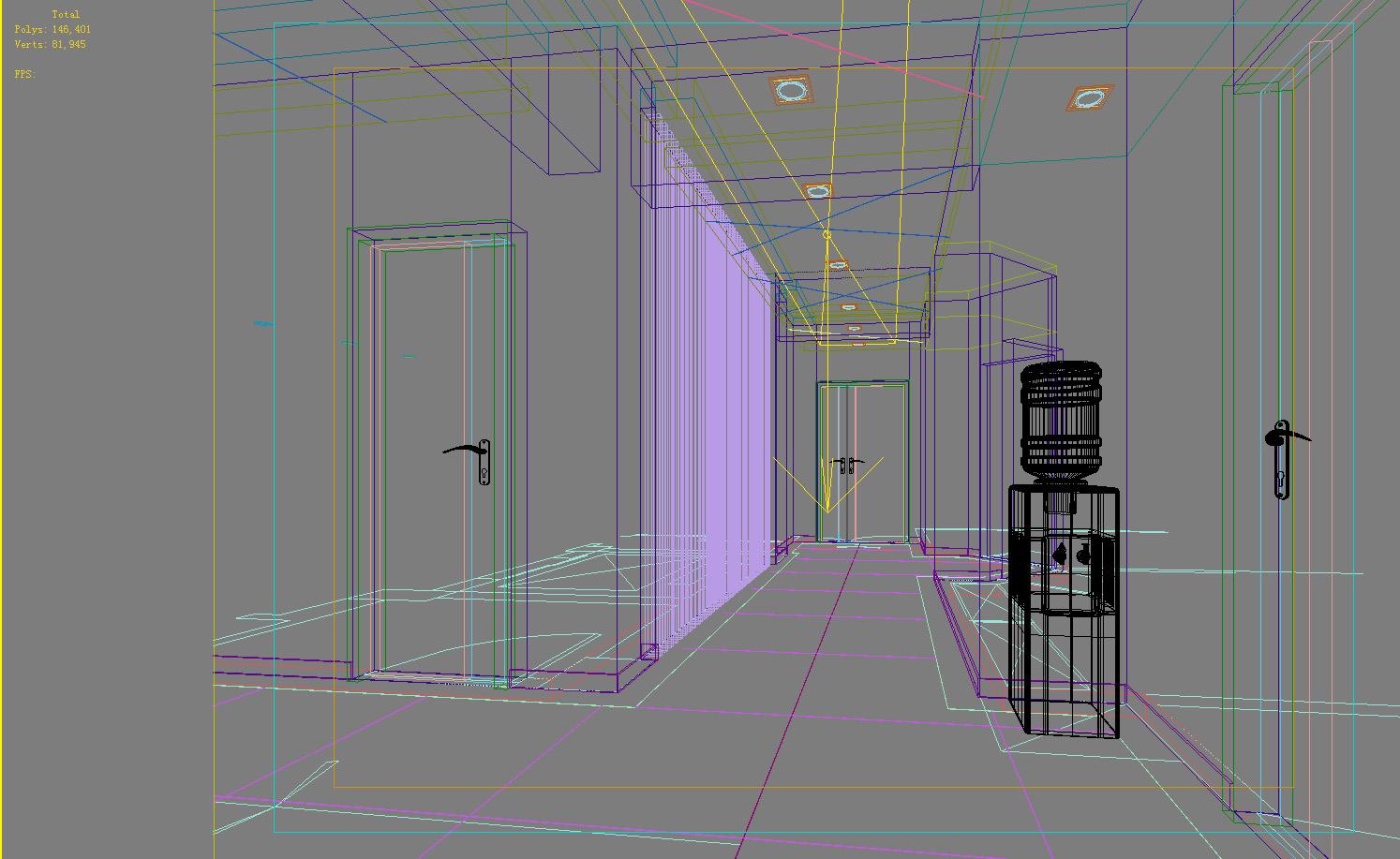aisle spaces 007 3d model max 124905