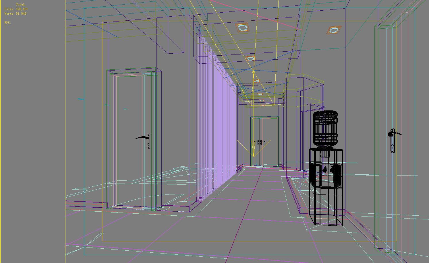 aisle spaces 007 3d model max 124906
