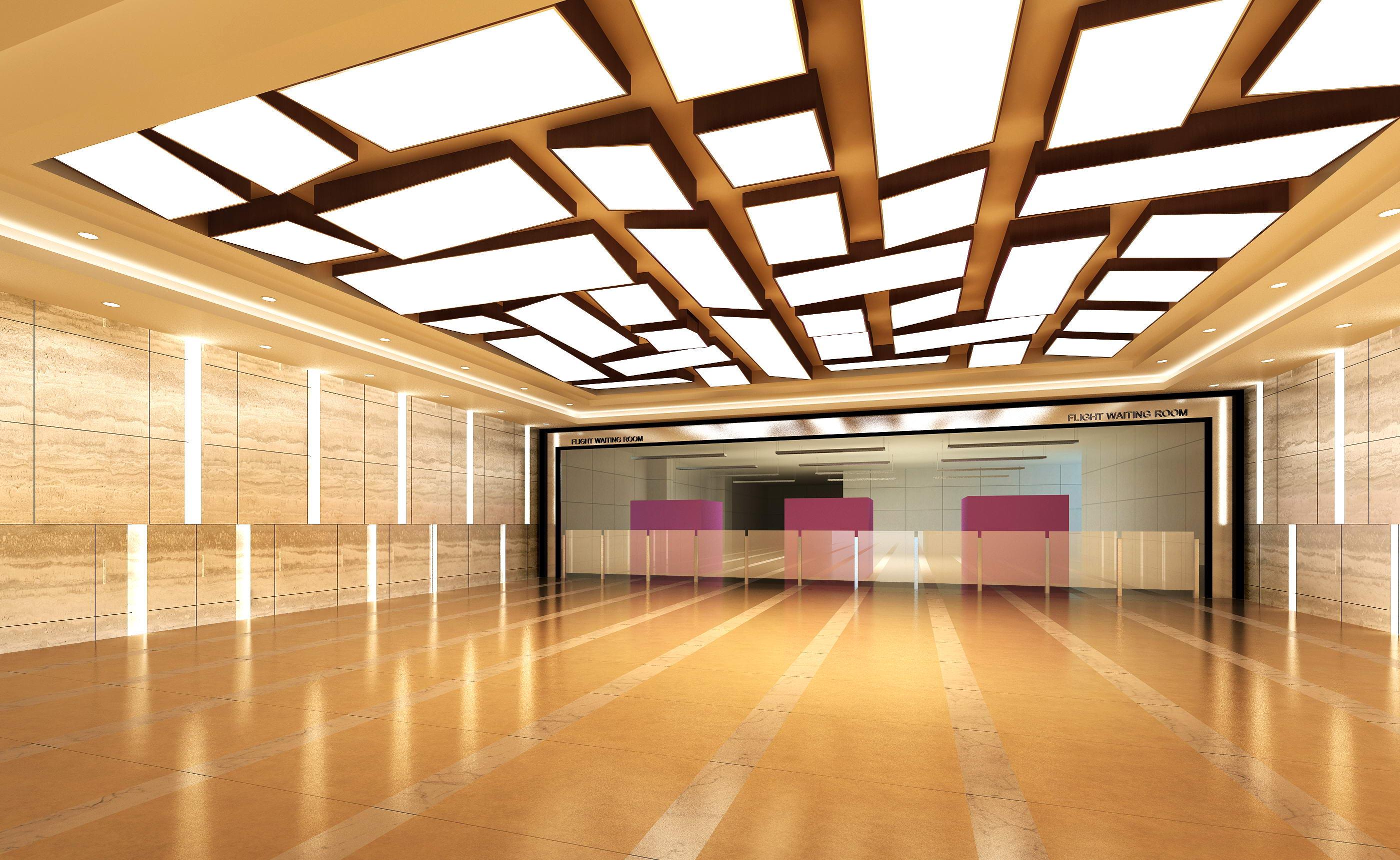 aisle spaces 008 3d model max 124908
