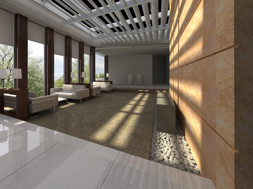 antechamber spaces 001 3d model max 124733