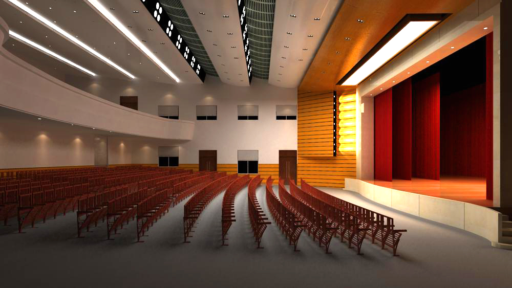 auditorium room 003 3d model max 125434