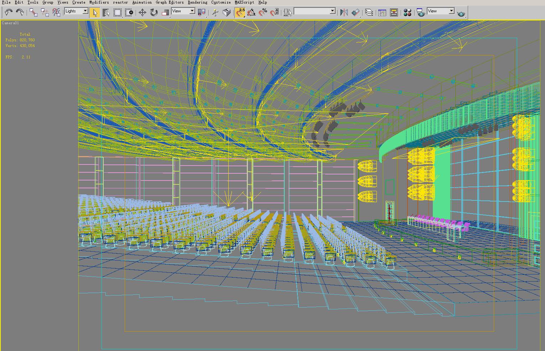 auditorium room 004 3d model max 125437