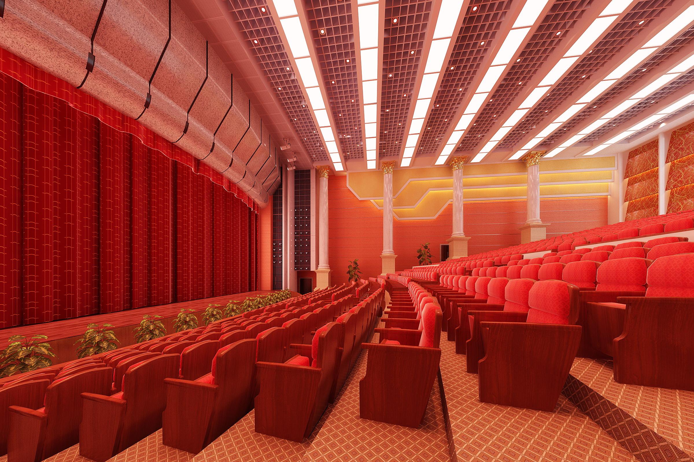 auditorium room 008 3d model max 125444