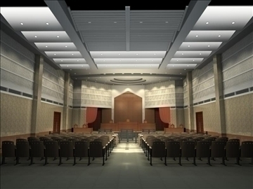 auditorium room 0082 3d model 3ds max 109652
