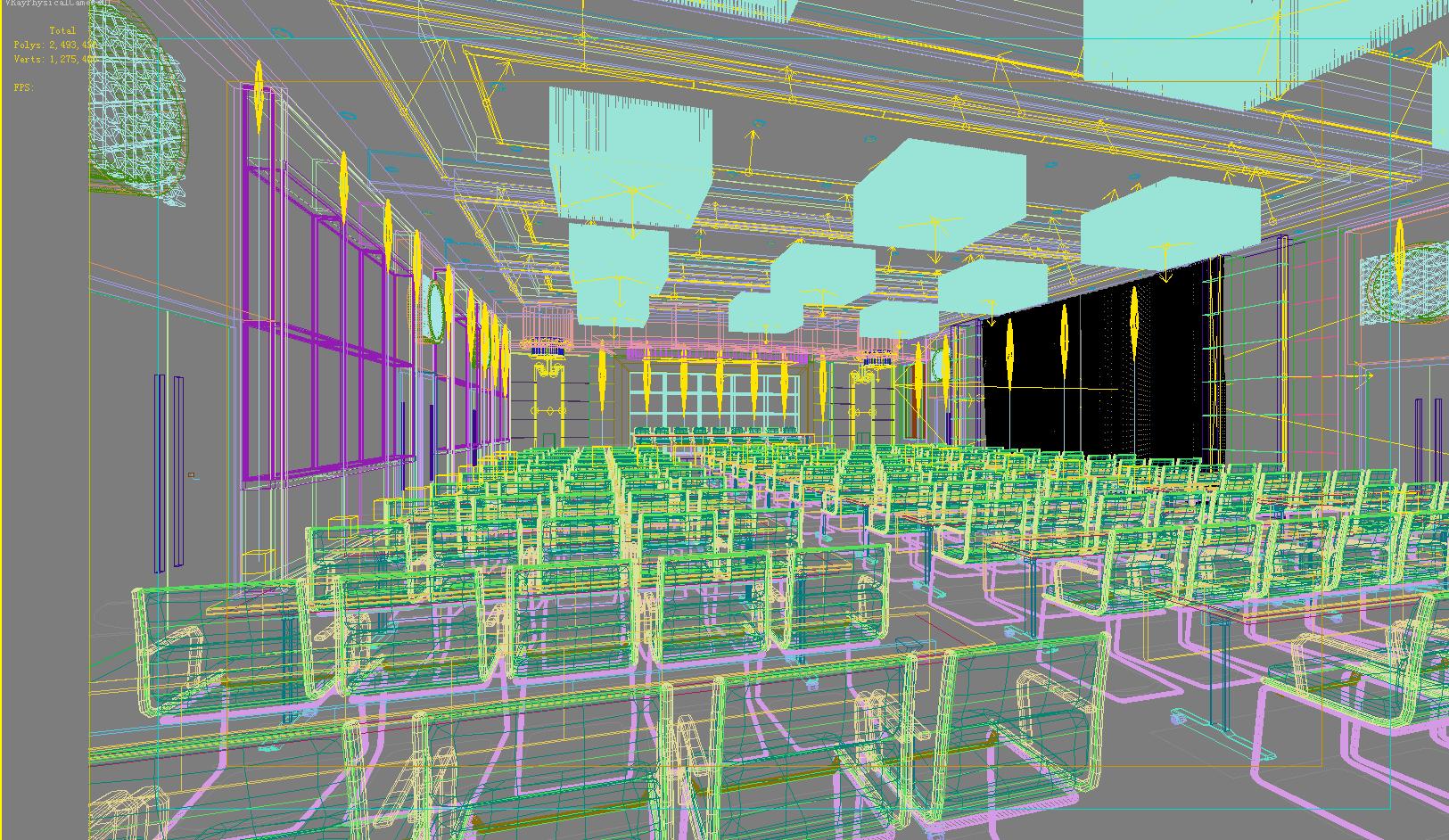 auditorium room 010-2 3d model max 125230
