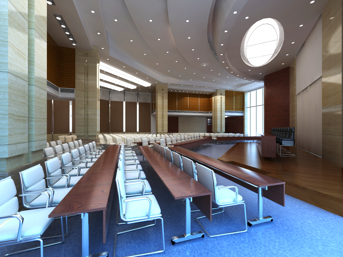 auditorium room hi-tech 3d model max 125237