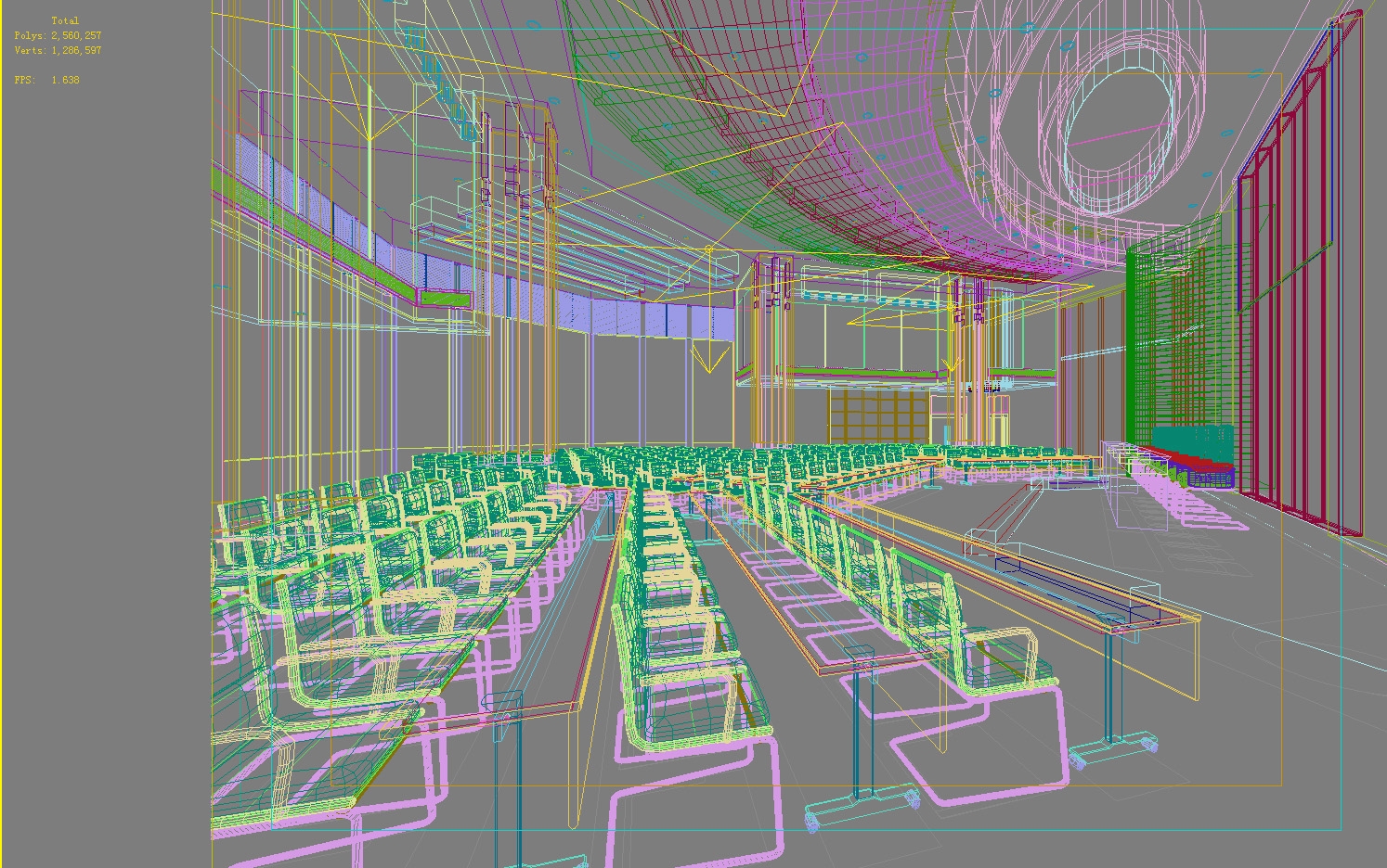 auditorium room hi-tech 3d model max 125238