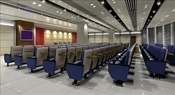 auditorium room interior 5 3d model 3ds max 109646