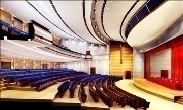 auditorium otağı001 3d model 3ds max 109638