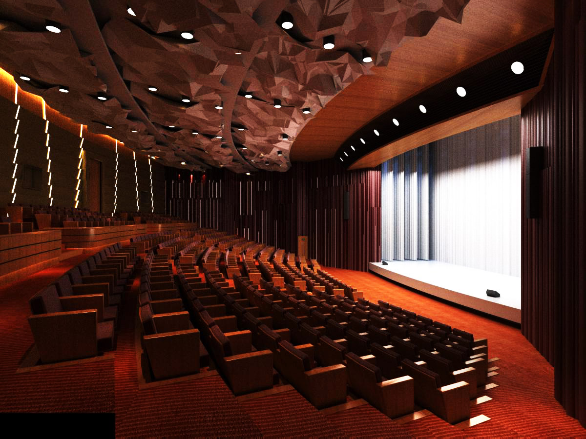 auditorium room001 3d model max 125247