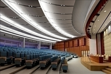 auditorium room002 3d model 3ds max 109640