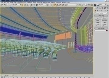 auditorium room002 3d model 3ds max 109641
