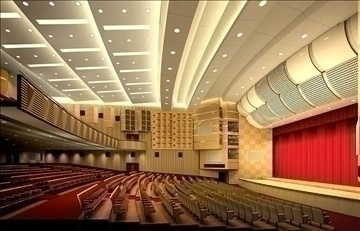 auditorium otağı003 3d model 3ds max 109642