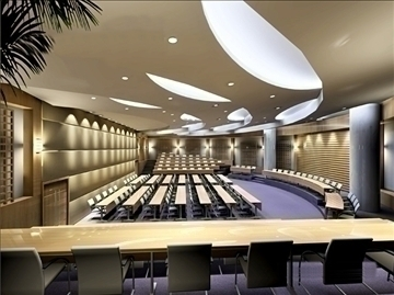 auditorium room004 3d model 3ds max 109644