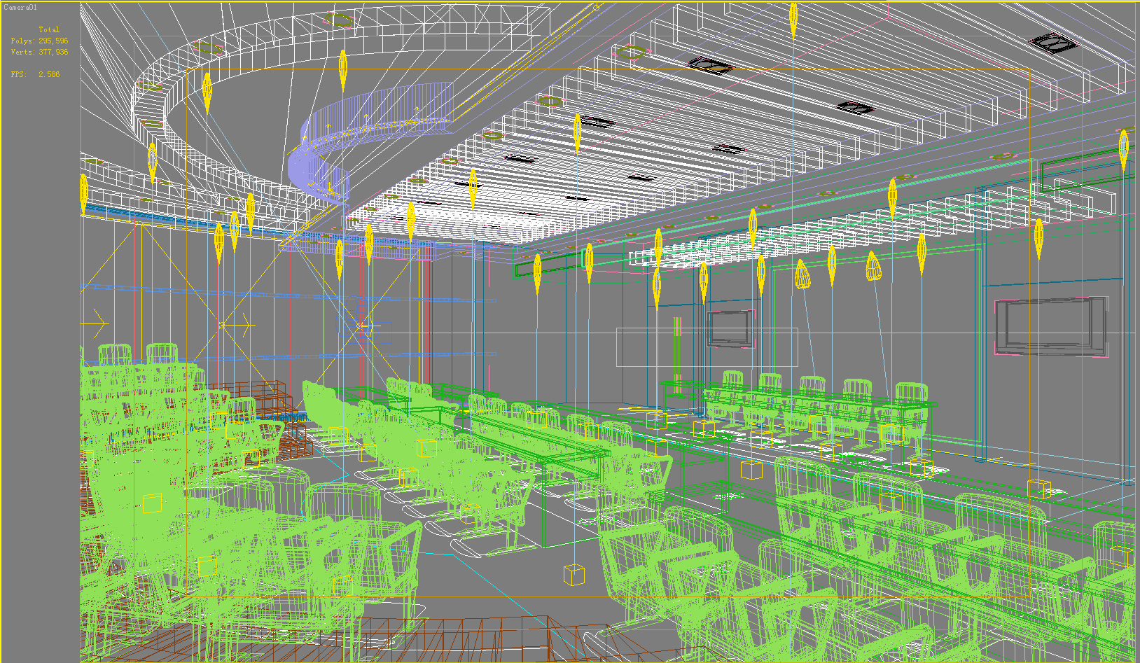 auditorium room005 3d model max 125240