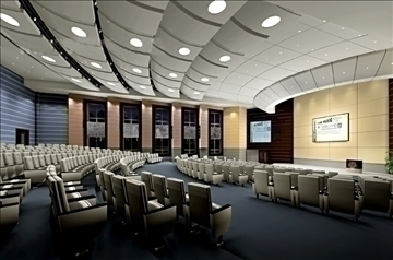 auditorium room006 3d model 3ds max 109648