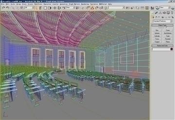 auditorium room006 3d model 3ds max 109649