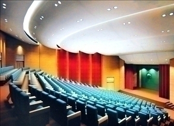 auditorium room007 3d model 3ds max 109650