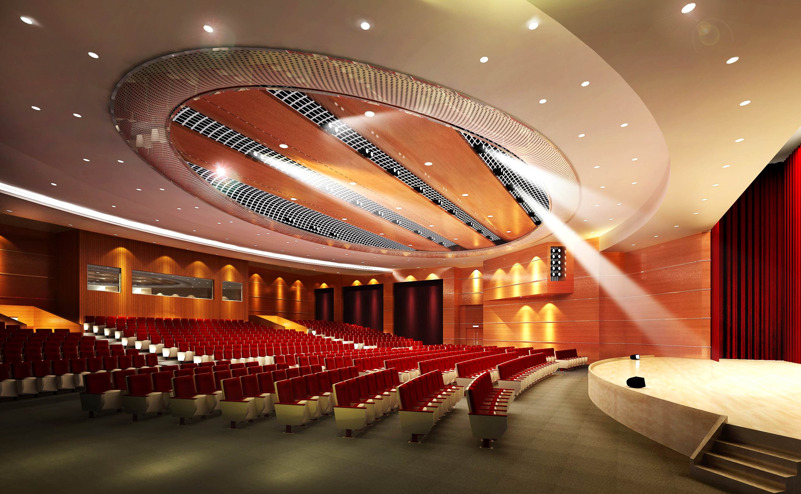 auditorium room007 3d model max 125235