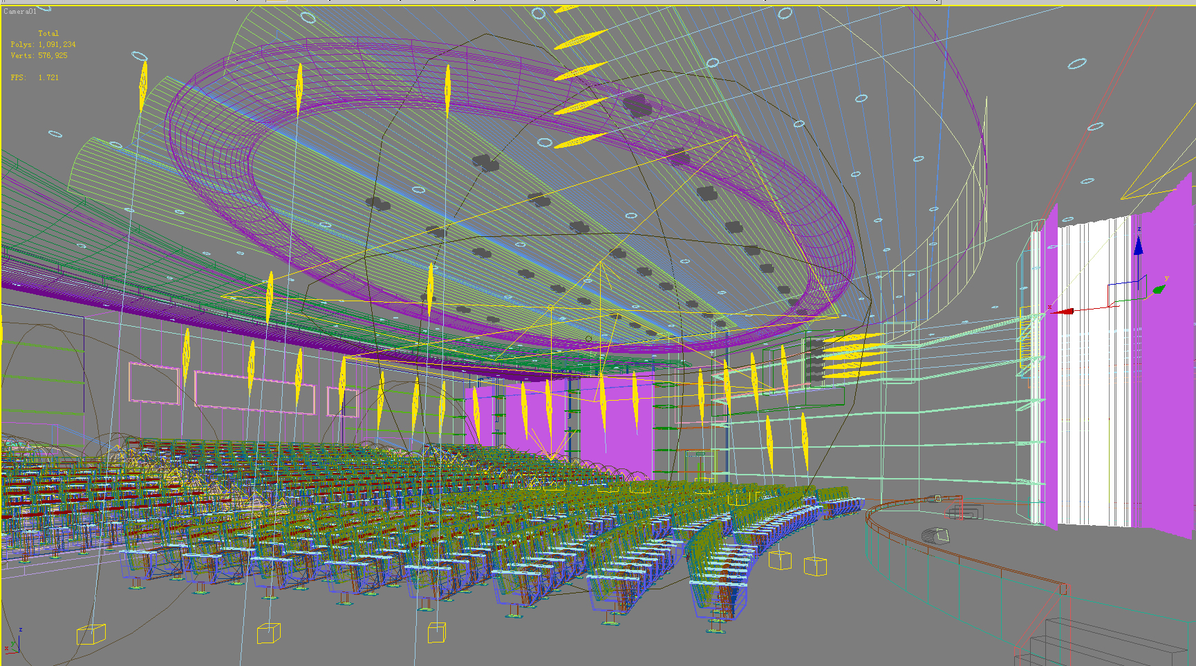 auditorium room007 3d model max 125236