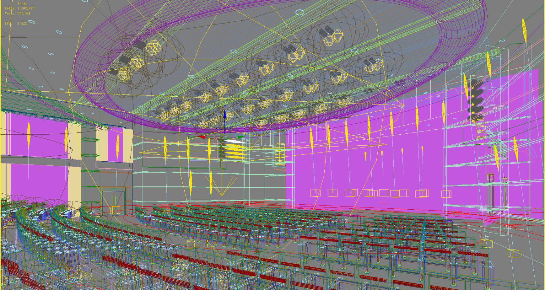 auditorium room008 3d model max 125234