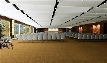 auditorium room009 3d model 3ds max 109654