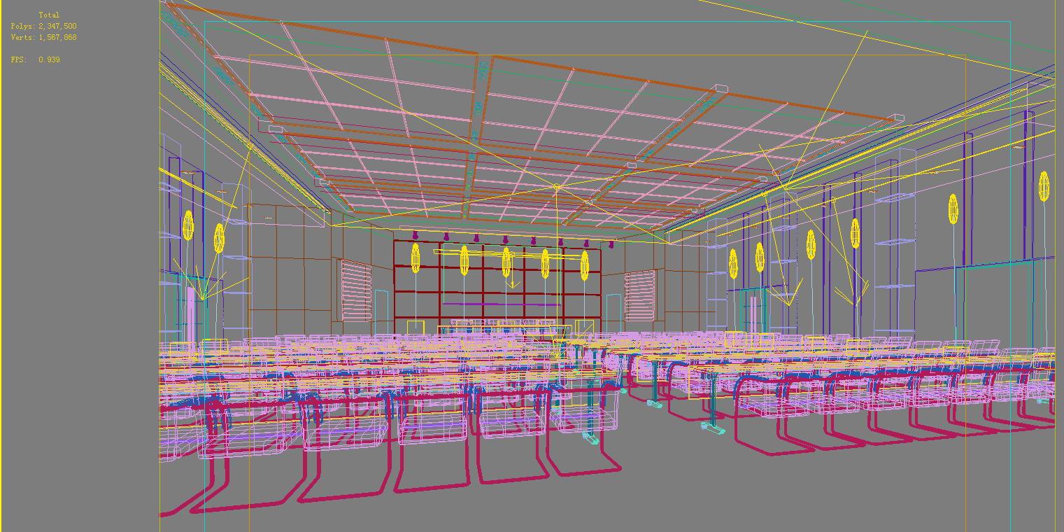 auditorium room0092 3d model max 125232